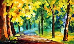 November Park by Afremov. HAPPY THANKSGIVING!
