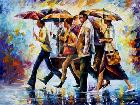 Today I Forgot My Umbrella by Afremov Studio