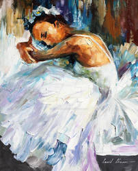 BALLERINA WHITE SWAN by Leonid Afremov