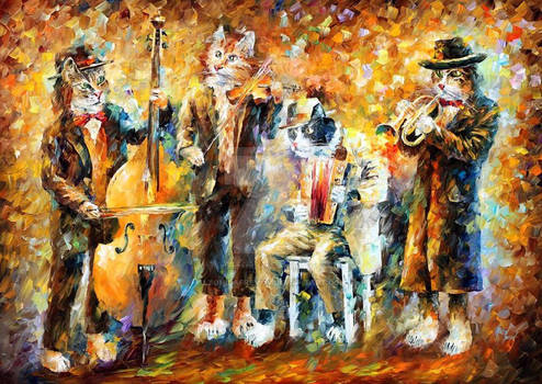 Musical cats by Afremov Studio