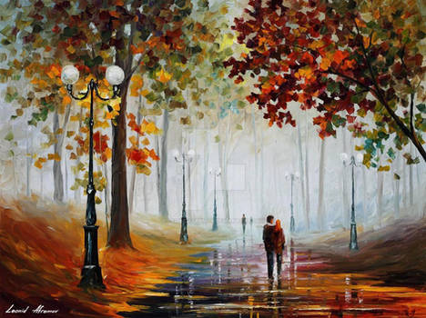 Foggy Morning In The Park by Leonid Afremov