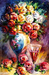Fallen Roses by Leonid Afremov