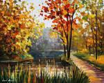 Forest Spring Stream by Afremov Studio