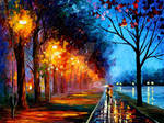 Alley By The Lake 2 by Afremov Studio