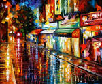 Rain At Night by Afremov Studio