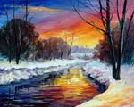 End Of Winter by Afremov Studio