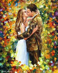 Romantic Kiss by Afremov Studio