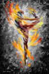 Dance Of Love Bw by Afremov Studio