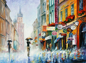 Downpour In The City by Afremov Studio