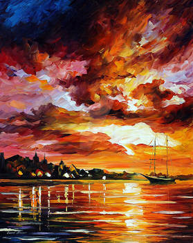 Evening Wind by Afremov Studio