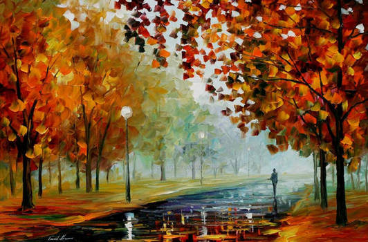 Foggy Autumn by Afremov Studio