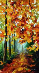 Foggy Forest by Afremov Studio