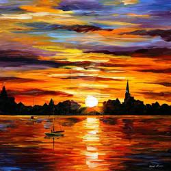 Corsica Sunset by Afremov Studio