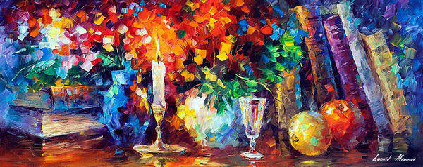 Candle Of Inspiration by Afremov Studio