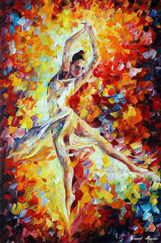 Candle Fire by Afremov Studio