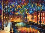 City Old Bridge by Leonid Afremov