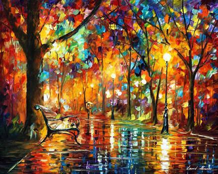 Colorful Night by Afremov Studio