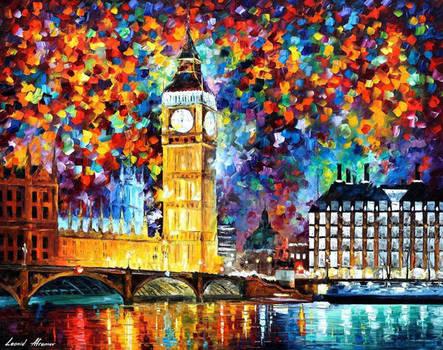 Big Ben London 2012 by Afremov Studio