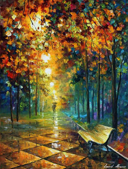 Beautiful Misty Park by Leonid Afremov