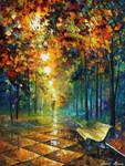 Beautiful Misty Park by Leonid Afremov