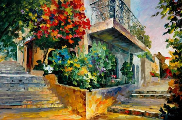 JERUSALEM GARDEN ON THE STONES by Afremov Studio