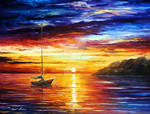 RESTING BY THE HILL by Afremov Studio