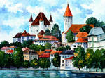 GERMANY - CLOUDS ABOVE THE RHINE by Afremov Studio