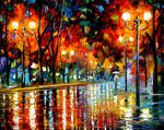 AND WHY DID SHE LEAVE by Afremov Studio