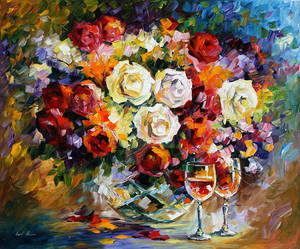 ROSES AND WINE by Afremov Studio