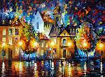 LUXEMBOURG NIGHT by Afremov Studio