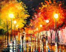 RAINY NIGHT by Afremov Studio