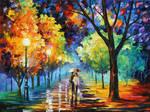 NIGHT ALLEY by Leonid Afremov