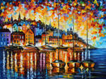 HARBOR OF CORSICA by Leonid Afremov