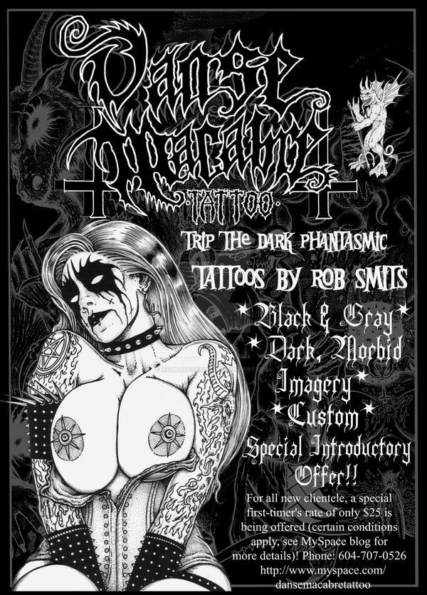 Danse Macabre Tattoo Promo Poster By Robb Mackobb On Deviantart