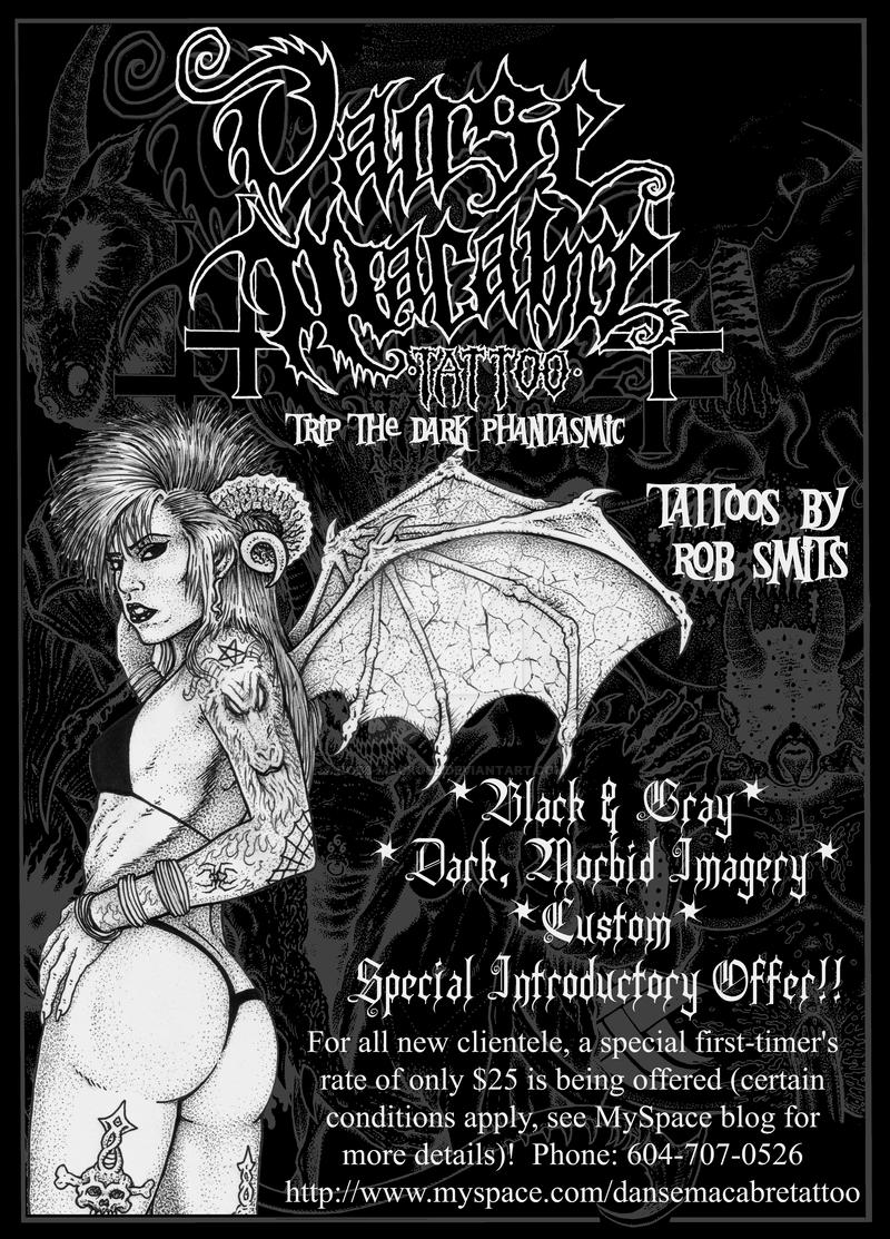 Danse Macabre Tattoo Special Offer Flyer By Robb Mackobb On