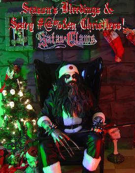 Satan Claws Xmas Card