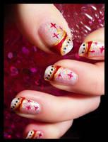 new year nail-art by Tartofraises