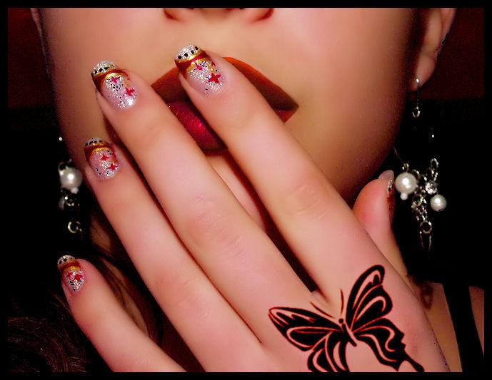 new year nail-art 2 by Tartofraises