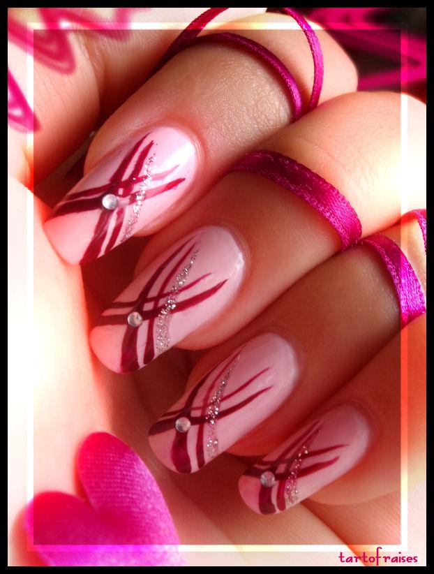 ribbons nails by Tartofraises