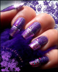 beautiful purple and pink foil