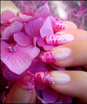 marbled french manicure 2
