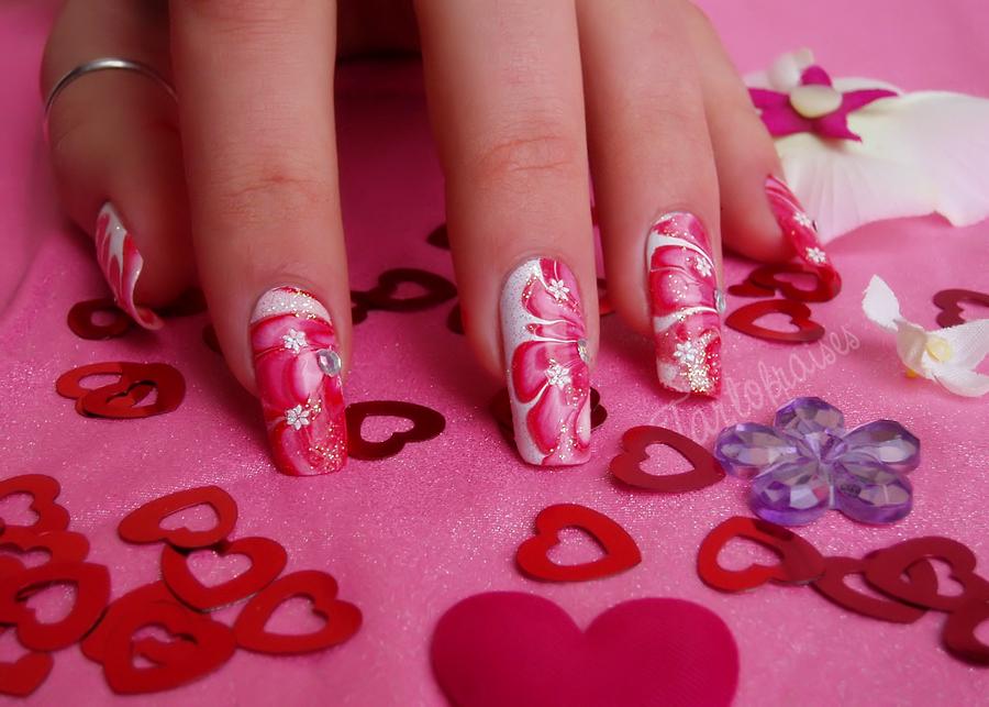 Valentines Day Nail Art By Tartofraises On Deviantart