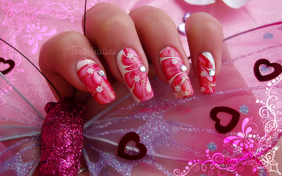 Valentines day nail art 2 by tartofraises on deviantart valentines day nail art 2 by tartofraises prinsesfo Images