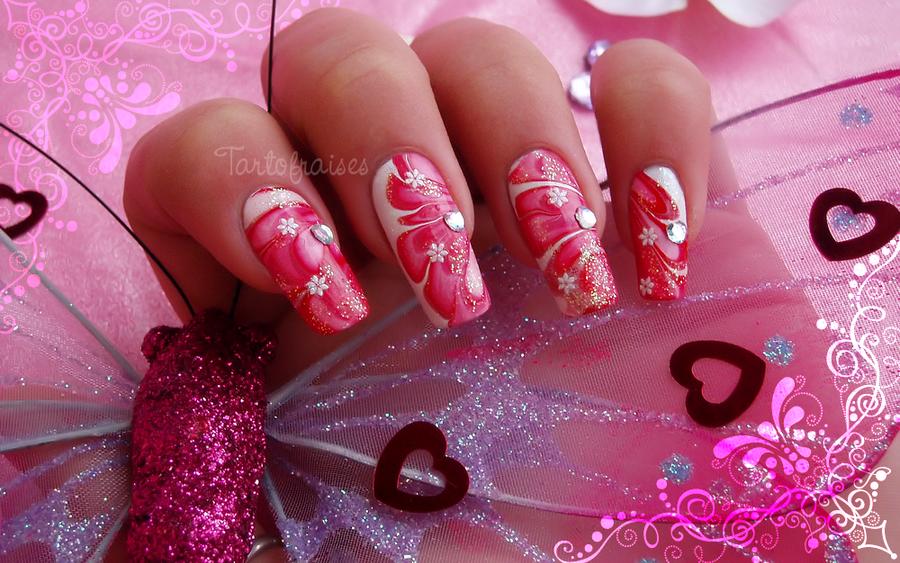 valentine's day nail art 2 by Tartofraises
