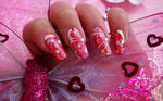 valentine's day nail art 2