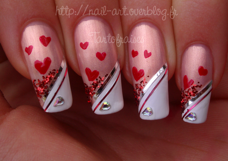 valentine's day nail art 5