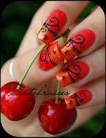 salsa nails by Tartofraises