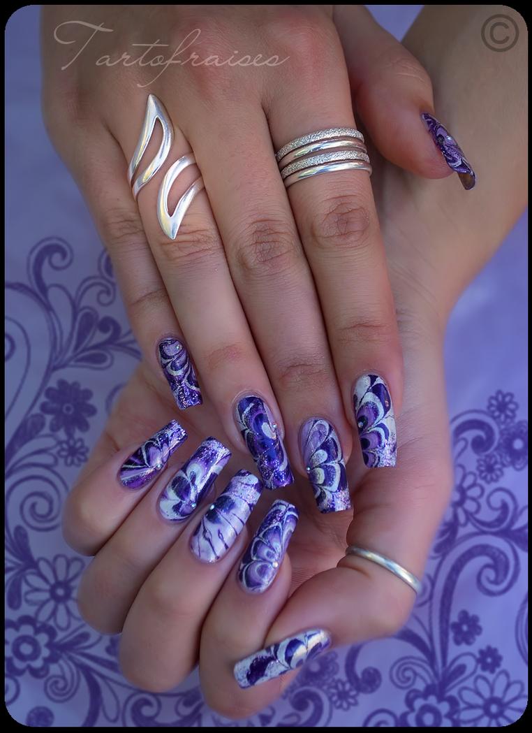 purple water marble by Tartofraises