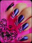 emo nails by Tartofraises