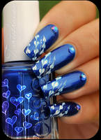 nail art hearts by Tartofraises